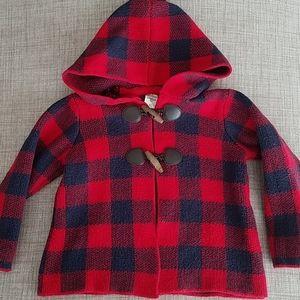 OshKosh Red/Navy Buffalo Plaid Jacket